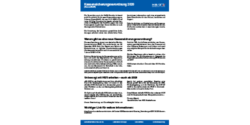 Flyer Kassensicherungsverordnung 2020